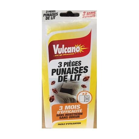 Pièges anti-punaises de lit Vulcano x3